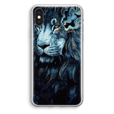iphone-xs-transparant-hoesje - Darkness Lion