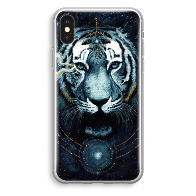 iphone-xs-transparant-hoesje - Darkness Tiger