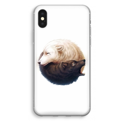 coque-transparente-iphone-xs - Yin Yang Wolves