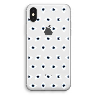 iphone-xs-cover-trasparente - Eyes pattern