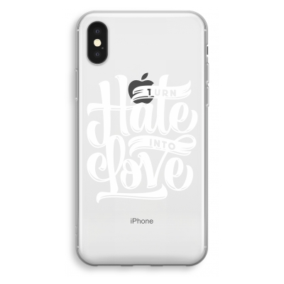 iphone-xs-transparant-hoesje - Turn hate into love