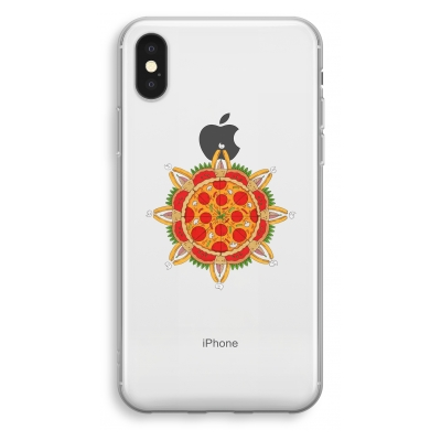 iphone-xs-transparant-hoesje - Pizza Mandala
