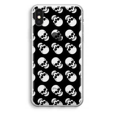 iphone-xs-transparant-hoesje - Musketon Skulls