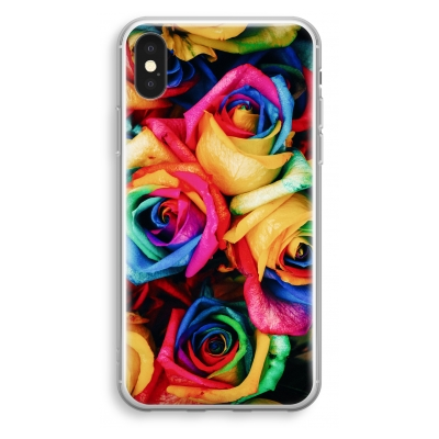 iphone-xs-transparant-case - Neon flowers