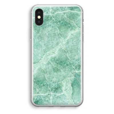 iphone-xs-transparant-case - Green marble