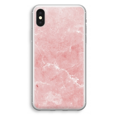 iphone-xs-transparant-case - Pink Marble