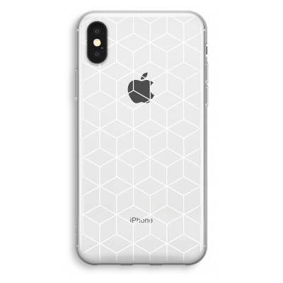 iphone-xs-transparant-case - Cubes black and white