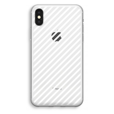 iphone-xs-transparant-case - Stripes black and white