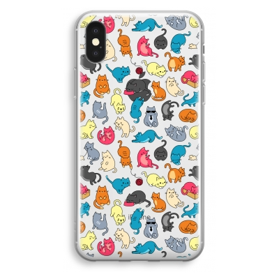 iphone-xs-transparant-case - Colourful cats