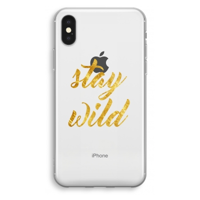 iphone-xs-transparant-hoesje - Stay wild