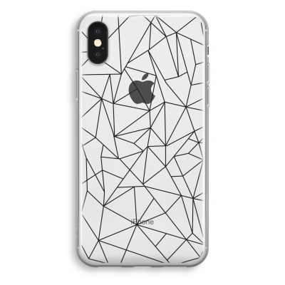 iphone-xs-transparant-case - Geometric lines black