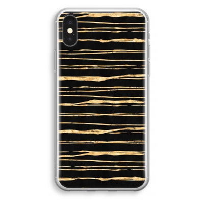 coque-transparente-iphone-xs - Rayures d'or