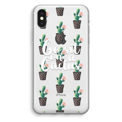 iphone-xs-transparant-hoesje - Cactus quote