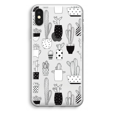 coque-transparente-iphone-xs - Cactus motif