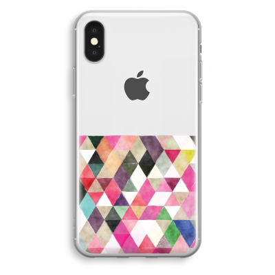 coque-transparente-iphone-xs - Les triangles colorés