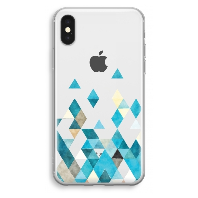 iphone-xs-cover-trasparente - Triangoli Colorati in Blu