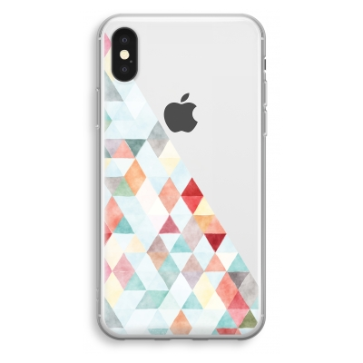 coque-transparente-iphone-xs - Les triangles pastels