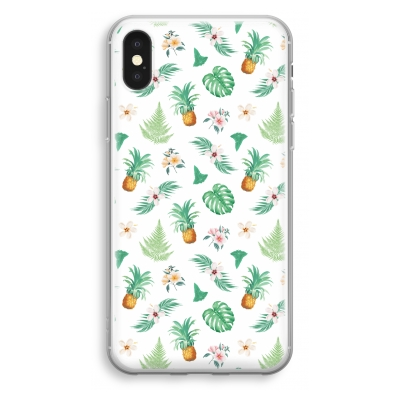 iphone-xs-transparant-case - Pineapple leaves