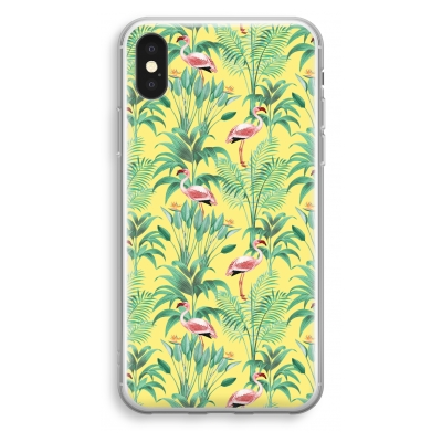 iphone-xs-transparant-hoesje - Flamingo party