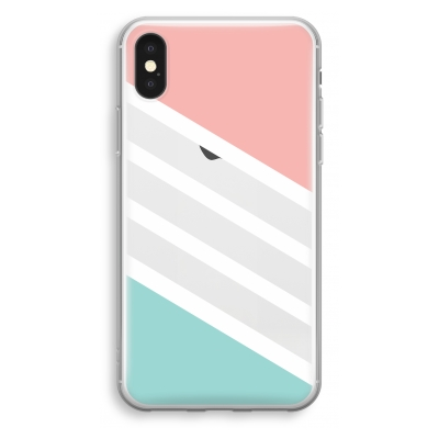 iphone-xs-transparant-hoesje - Strepen pastel
