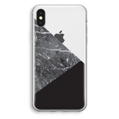 iphone-xs-transparant-hoesje - Combinatie marmer