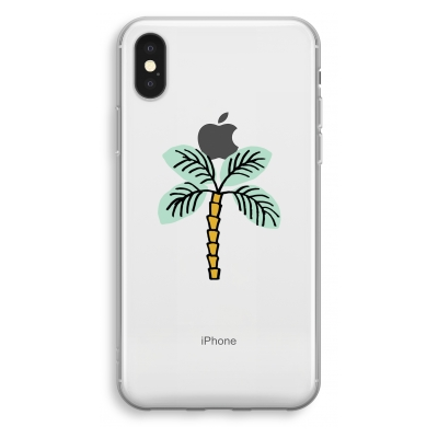 coque-transparente-iphone-xs - Palmier