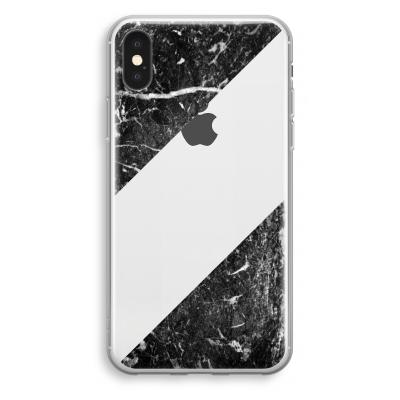 coque-transparente-iphone-xs - Marbre noir