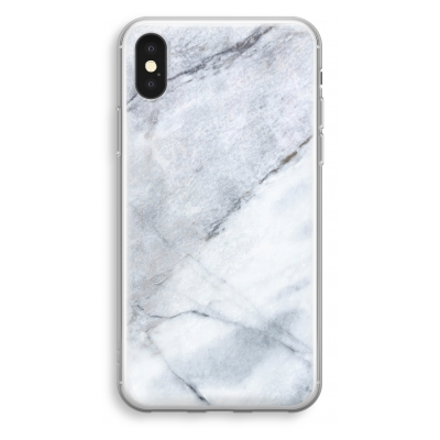 iphone-xs-transparant-hoesje - Witte marmer