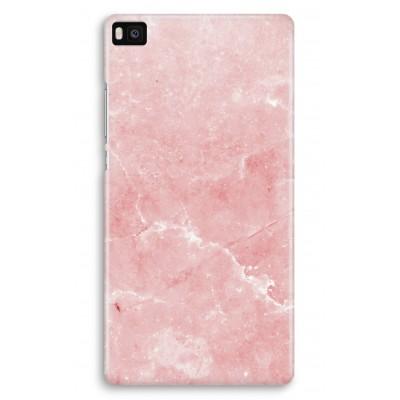 huawei-ascend-p8-volledig-geprint-hoesje - Roze marmer