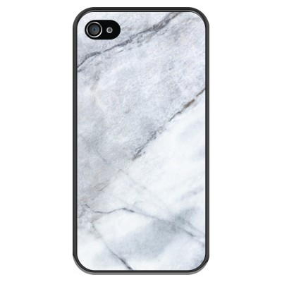 iphone-4-4s-soft-case - Marble white
