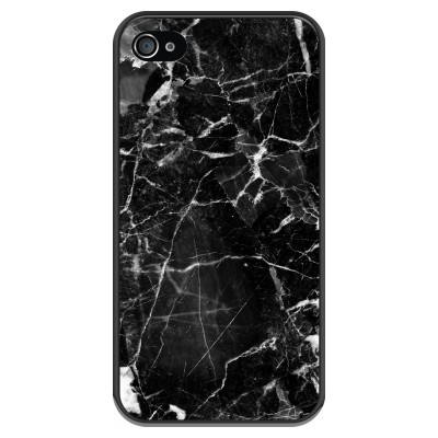 iphone-4-4s-soft-case - Black Marble 2