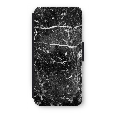 iphone-5-5s-se-flip-case - Black marble