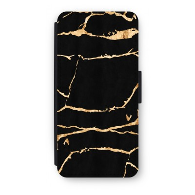 iphone-5-5s-se-flip-cover - Gouden marmer