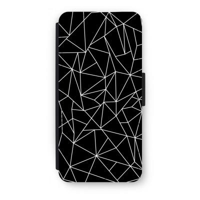 iphone-5-5s-se-flip-cover - Geometrische lijnen wit