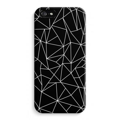 iphone-5-5s-se-volledig-geprint - Geometrische lijnen wit