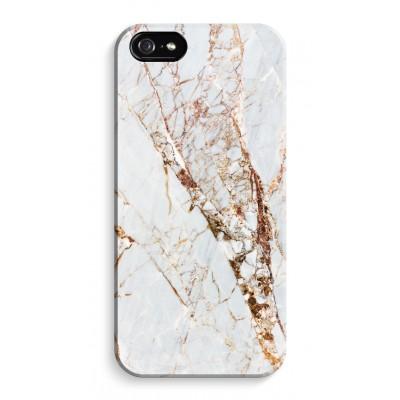 iphone-5-5s-se-volledig-geprint - Goud marmer