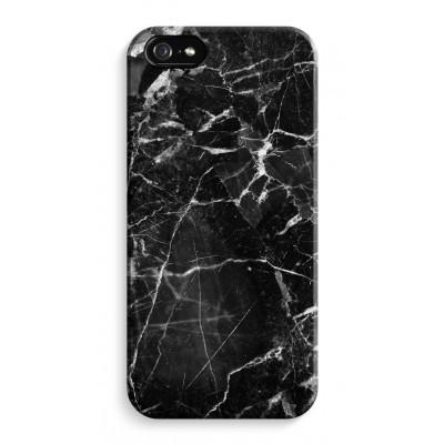 iphone-5-5s-se-volledig-geprint - Zwart Marmer 2