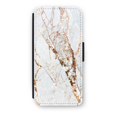 iphone-5-5s-se-flip-cover - Goud marmer