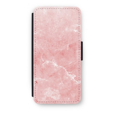 iphone-5-5s-se-flip-cover - Roze marmer