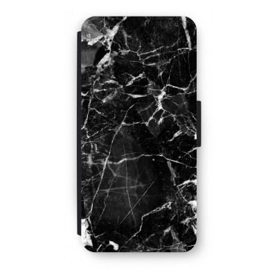 iphone-5-5s-se-flip-cover - Zwart Marmer 2