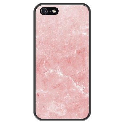 coque-iphone-5-5s-silicone - Marbre Rose