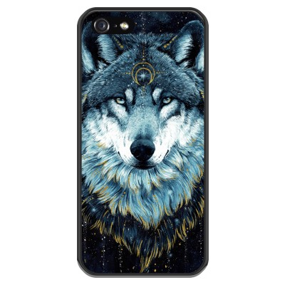 iphone-5-5s-silicone-case - Darkness Wolf