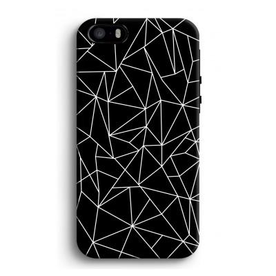 iphone-5-5s-se-tough-case-2 - Lignes géométriques blanches