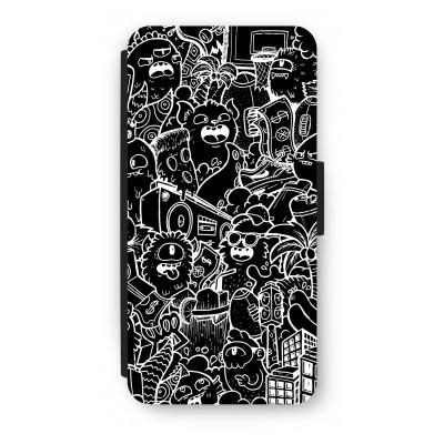 iphone-7-flip-hoesje - Vexx Black City