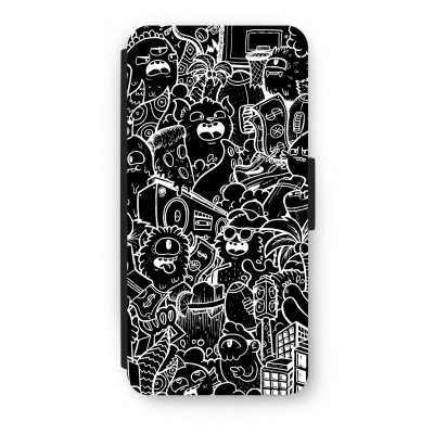 iphone-5-5s-se-flip-cover - Vexx Black City