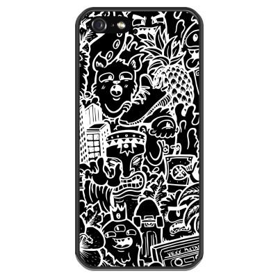 iphone-5-5s-silicone-case - Vexx Black Mixtape