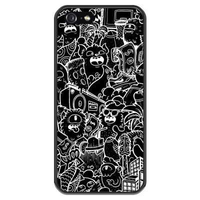 coque-iphone-5-5s-silicone - Vexx Black City
