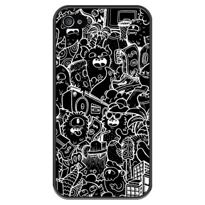 iphone-4-4s-soft-case - Vexx Black City