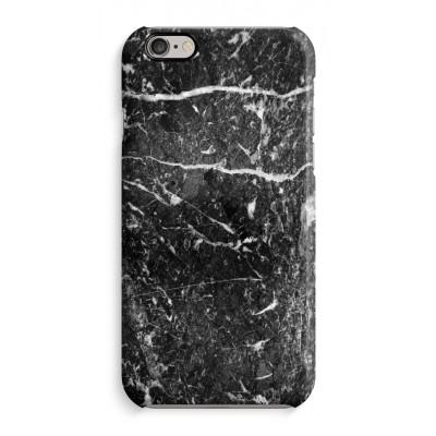 iphone-6-6s-case-rondom-geprint-2 - Zwart marmer