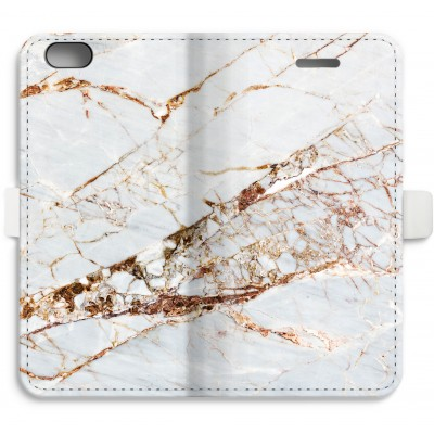 iphone-6-6s-full-print-flip-case - Gold Marble